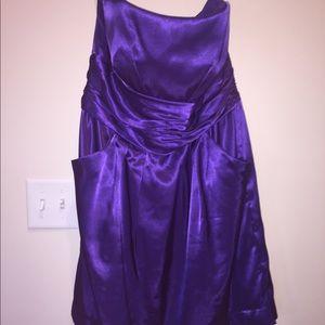 Short, Purple Bridesmaid Dress